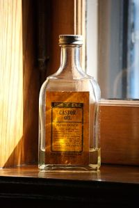 A bottle of castor oil