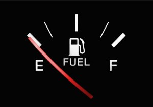 Fuel gauge on empty