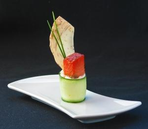 Smoked Salmon-Cucumber Amuse Bouche