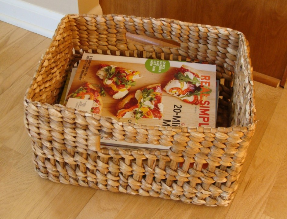 basket of magazines