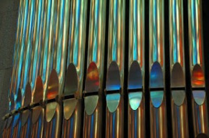 organ pipes, close-up