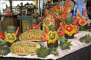 Display on the first cruise day, in the Windjammer (the buffet restaurant)