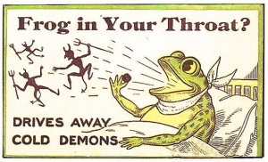frog in throat drives demons