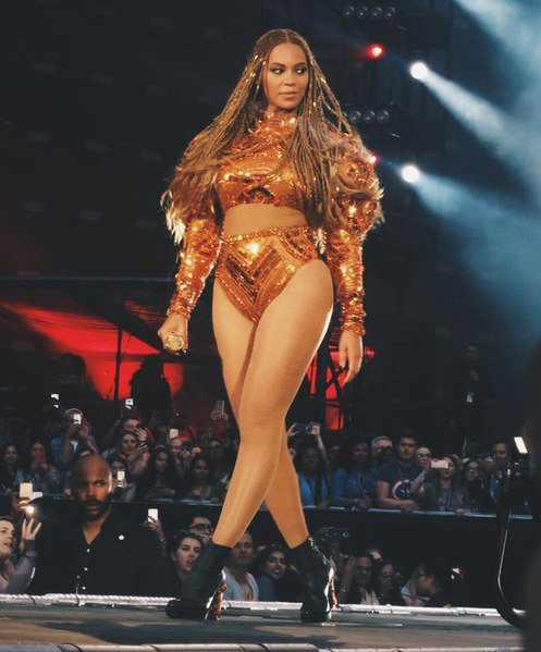 Beyonce performing as part of her Formation Tour in 2016.