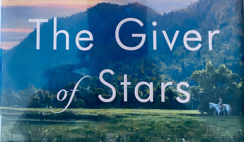 A close-up of the title The Giver of Stars from that book cover.