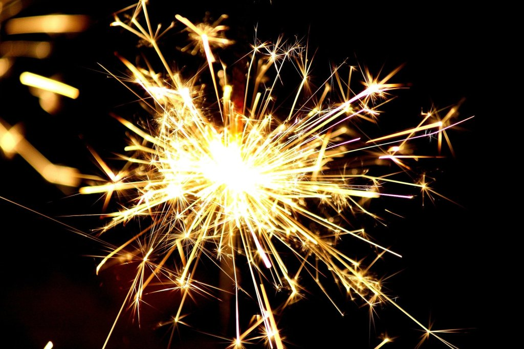A close-up picture of a sparkler.
